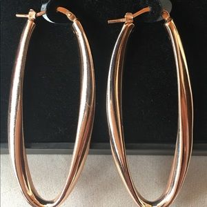 Jewelry - Sterling silver hoop earring rose gold filled